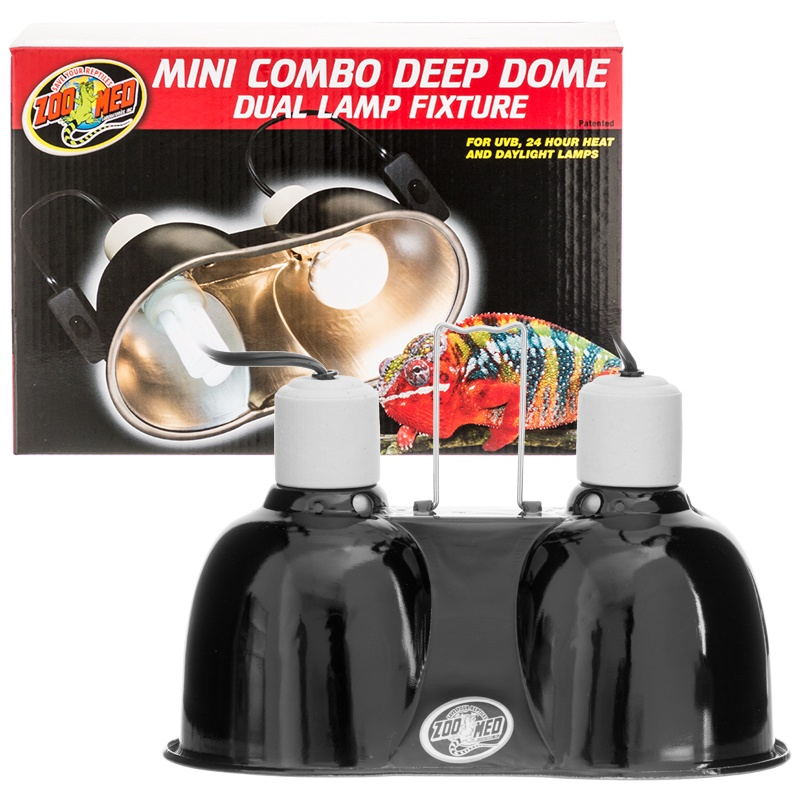 Zoo Med Combo Deep Dome Dual Lamp Fixture ⋆ SnakeEstate